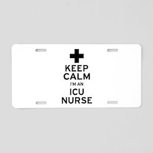 Keep Calm ICU Nurse Aluminum License Plate