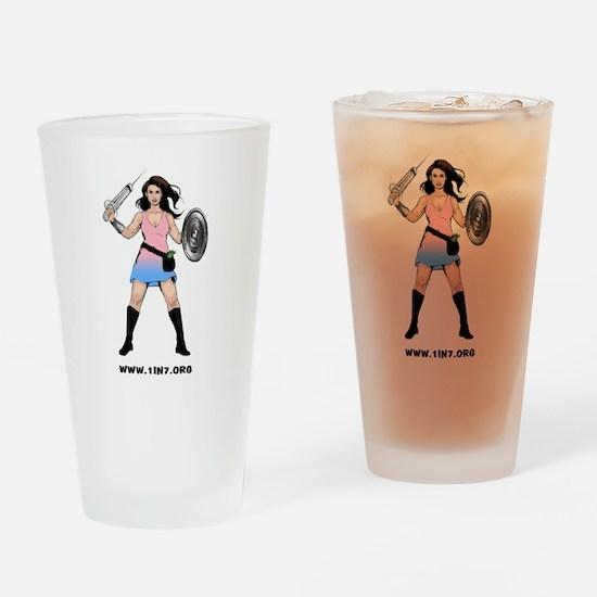 1in7InfertilityWarrior Drinking Glass
