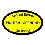 Spoiled Finnish Lapphund On Board Oval Sticker