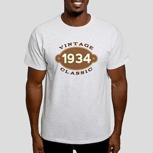 1934 Birth Year Birthday Light T-Shirt