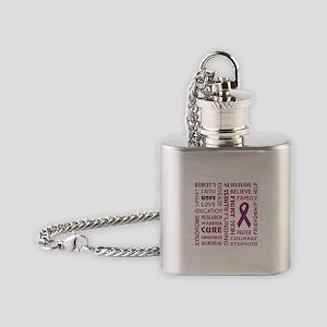 FAITH, HOPE, LOVE Flask Necklace