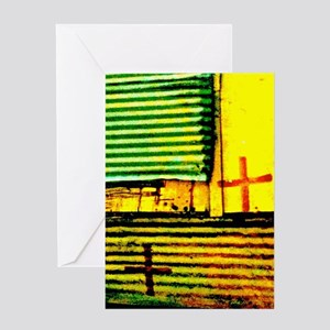 Abstract Crosses And Stripes Greeting Cards