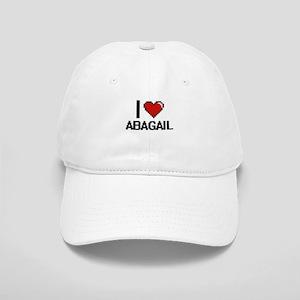 I Love Abagail Digital Retro Design Cap