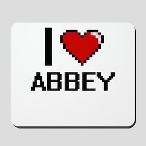 I Love Abbey Digital Retro Design Mousepad