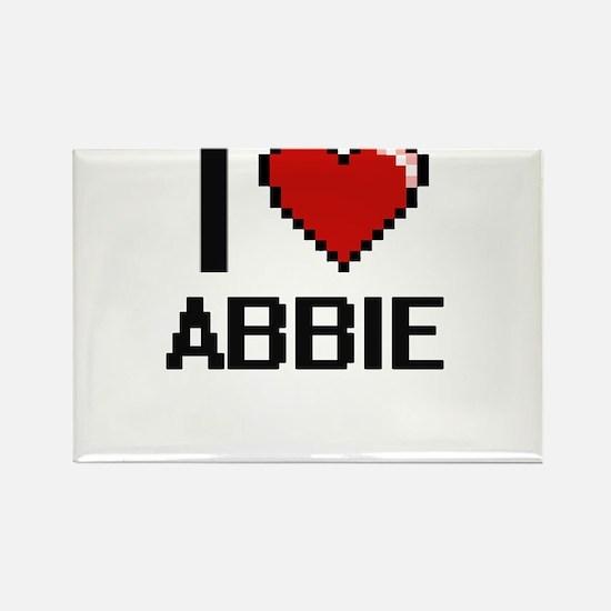 I Love Abbie Digital Retro Design Magnets