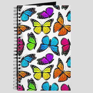 Rainbow Monarch Butterfly Pattern Journal