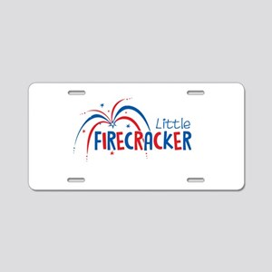 Little Firecracker Aluminum License Plate