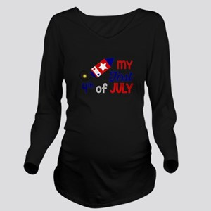 My First 4th of July Long Sleeve Maternity T-Shirt
