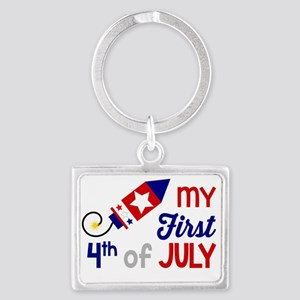 My First 4th of July Keychains