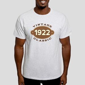 1922 Birth Year Birthday Light T-Shirt