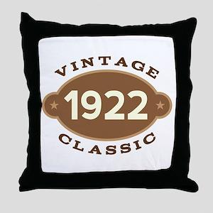 1922 Birth Year Birthday Throw Pillow