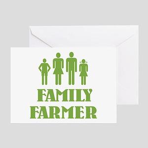 Family Farmer Greeting Card