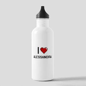 I Love Alessandra Digi Stainless Water Bottle 1.0L