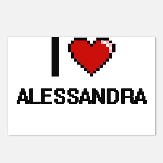 I Love Alessandra Digital Postcards (Package of 8)