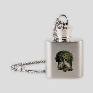 Yin Yang Tree Flask Necklace