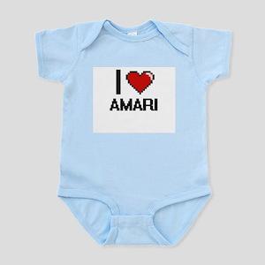 I Love Amari Digital Retro Design Body Suit