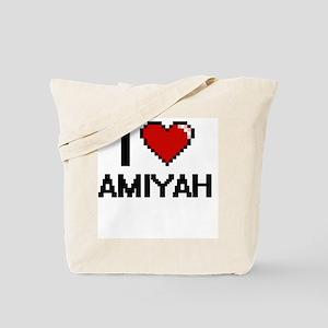I Love Amiyah Digital Retro Design Tote Bag