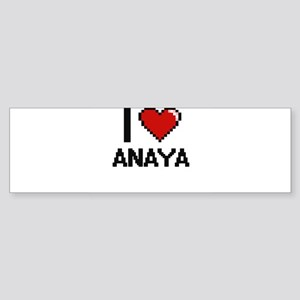I Love Anaya Digital Retro Design Bumper Sticker