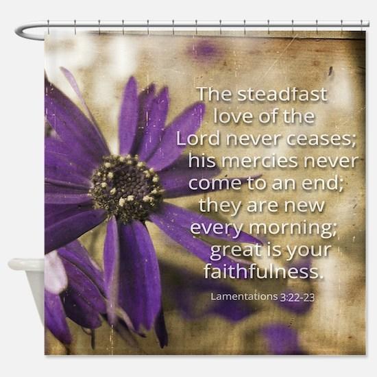 Steadfast Love Shower Curtain