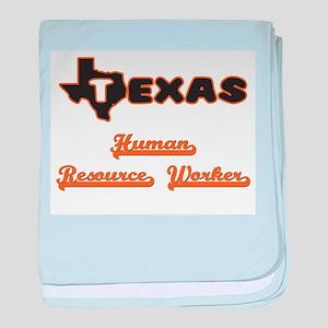 Texas Human Resource Worker baby blanket