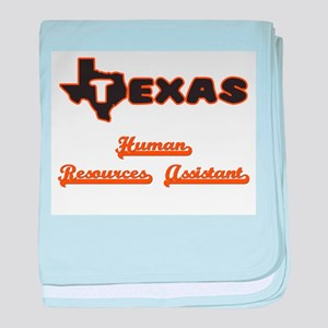 Texas Human Resources Assistant baby blanket