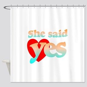 cute engagement 2 Shower Curtain