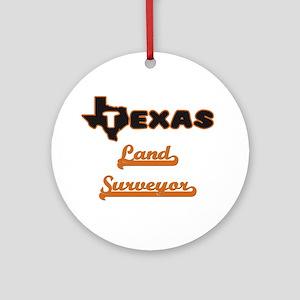 Texas Land Surveyor Ornament (Round)