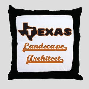 Texas Landscape Architect Throw Pillow