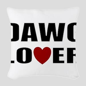 Bulldog lover Woven Throw Pillow
