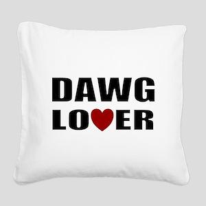 Bulldog lover Square Canvas Pillow