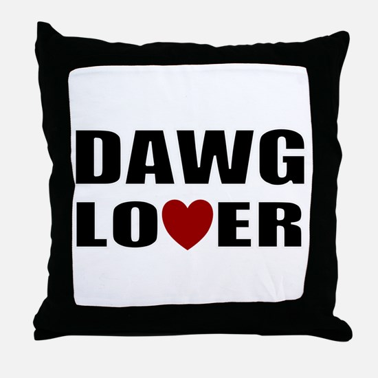 Bulldog lover Throw Pillow
