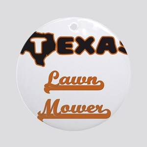 Texas Lawn Mower Ornament (Round)