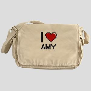 I Love Amy Digital Retro Design Messenger Bag
