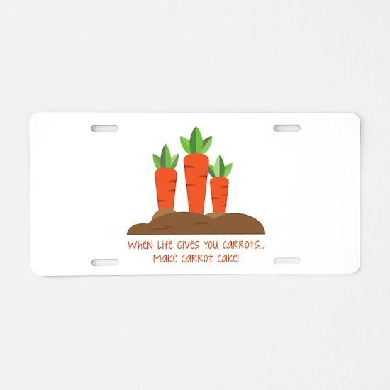 Carrot cake Aluminum License Plate