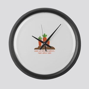 Carrot cake Large Wall Clock