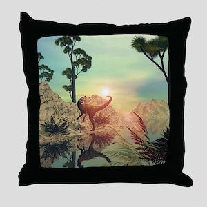 Dilophosaurus Throw Pillow