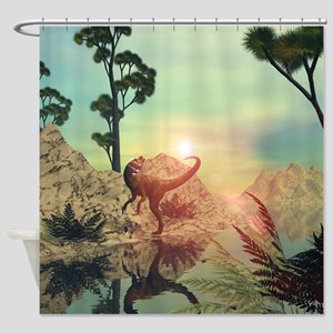 Dilophosaurus Shower Curtain
