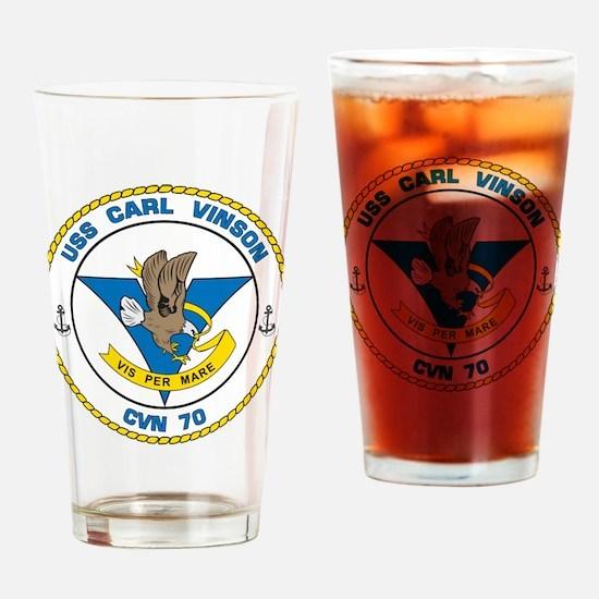 Funny Uss carl vinson Drinking Glass
