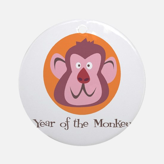 Cartoon Year of the Monkey Ornament (Round)