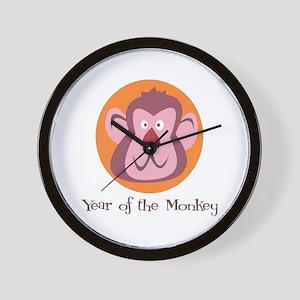 Cartoon Year of the Monkey Wall Clock