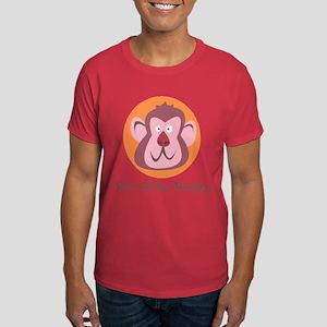Cartoon Year of the Monkey Dark T-Shirt