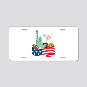 American Holiday Aluminum License Plate