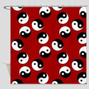 Yin Yang Pattern Shower Curtain