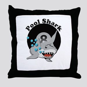 Eight Ball Pool Shark Throw Pillow