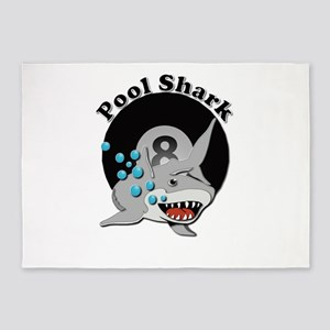 Eight Ball Pool Shark 5'x7'area Rug