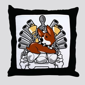 Iron Bone Throne Throw Pillow