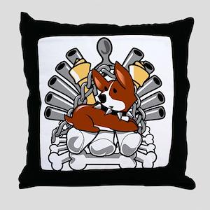 Iron Bone Throne Throw Pillow