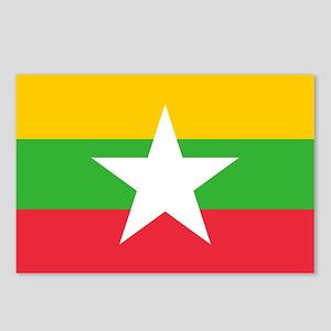 Myanmar Flag Postcards (Package of 8)