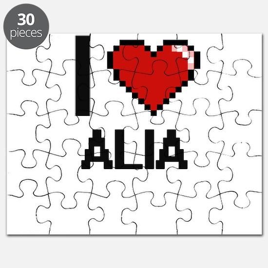 I Love Alia Digital Retro Design Puzzle
