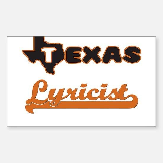 Texas Lyricist Decal